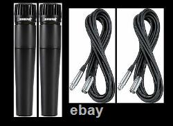(2) New Shure SM57 Mics and Cables Authorised Dealer Make Offer Buy It Now