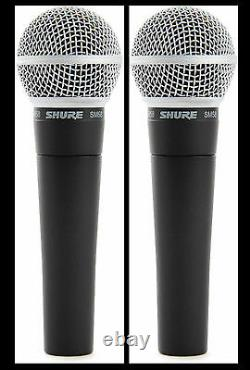 (2) New Shure SM58 Vocal Mics & Cables Authorised Dealer Make Offer Buy It Now