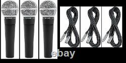 (3) New Shure SM58 Vocal Mics & Cables Authorised Dealer Make Offer Buy It Now