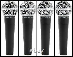 (4) New Shure SM58 Vocal Mics Authorised Dealer Make Offer Buy It Now