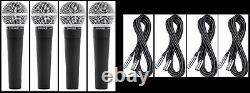(4) New Shure SM58 Vocal Mics & Cables Authorised Dealer Make Offer Buy It Now