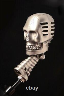 Custom Skull vocal Microphone Gothic Death metal Rock and Roll equipment