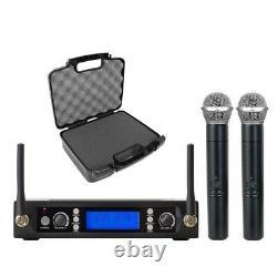 Dual Wireless Karaoke Microphone 200 Channels Dynamic Mic For Shure uhf System