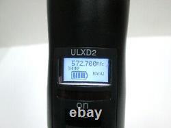 GREAT Shure ULXD2 SM58 Wireless Microphone Transmitter J50A 572-616 MHz MINT