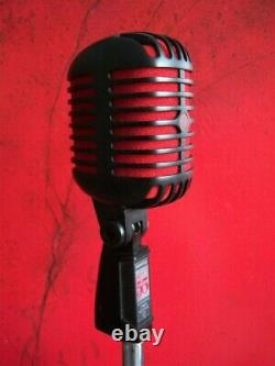 Rare Shure 55 Super 55-BCR dynamic cardioid microphone red / black w pouch