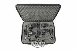 Shure 7 Piece Drum Microphone Kit Recording Mic Bundle with Case PGADRUMKIT7