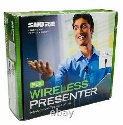 Shure BLX Wireless System H10 Wireless Lav. System CVL BLX1 BLX4 Open Box