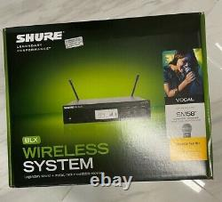 Shure BLX24R/SM58 Wireless Microphone System with BLX4R Rack Mount Receiver new
