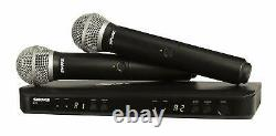 Shure BLX288/PG58 Wireless Dual Vocal System with 2 PG58 Mic Transmitter H9