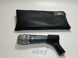 Shure Beta 57 Microphone with soft case and clip