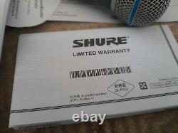 Shure Beta SM58a Live & Studio Microphone Super cardioid