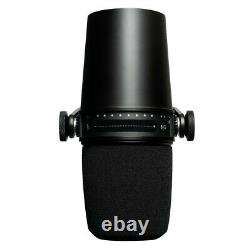 Shure MV7 Dynamic Unidirectional Dual LR/USB Podcasting Microphone Black