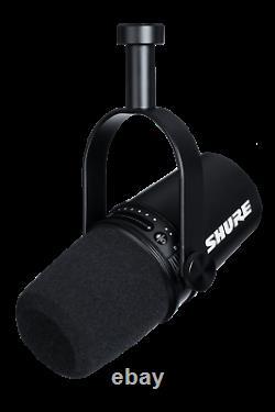 Shure MV7-K Professional Quality USB Dynamic Podcast Microphone Black