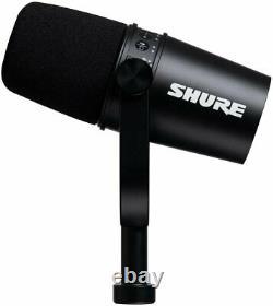 Shure MV7 Podcast Dynamic Microphone with USB & XLR Black MV7-K-U
