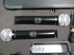 Shure PG58 dual wireless microphone