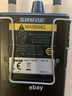 Shure PSM1000 Bodypack receiver P10R on P8 freq, TOP used condition more to sell