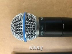 Shure QLXD2 Beta58A J50 572-636MHz Wireless Handheld Transmitter with Shure Pouch
