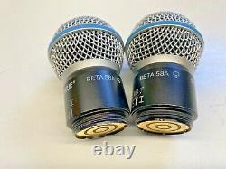 Shure RPW118 Beta 58A Mic Transmitter Capsule PAIR Used