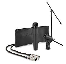 Shure SM57 Wired Microphone Complete Instrument Mic Bundle with Stand, Cable, Clip