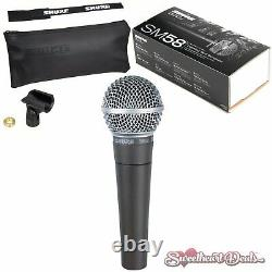 Shure SM58 Vocal Dynamic Live and Recording Microphone SM58-LC Bundle