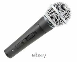 Shure SM58S Cardioid Dynamic Vocal Microphone Microphone with On/Off Switch