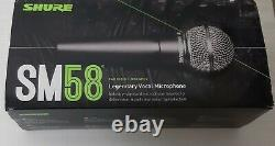 Shure SM58S Dynamic Vocal Microphone with On/Off Switch With Gift XLR cable New