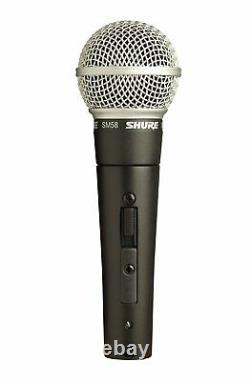 Shure SM58s Microphone with Switch Vocal Dynamic Live and Recording Mic SM58