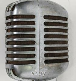 Shure Unidyne Model 55SW Vintage Dynamic Microphone WithCable. Untested As Is