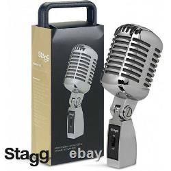 Stagg SDM100-CR 50'S Style Professional Vintage Style Dynamic Microphone Chrome