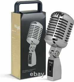 Stagg SDM100 CR Dynamic Microphone Cardioid Pattern Vintage Styling