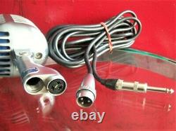 Vintage 1940's Shure 55 Fatboy dynamic cardioid microphone Elvis deco w cable