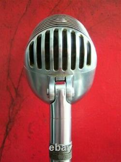 Vintage 1940's Shure 55C Fatboy dynamic cardioid microphone Elvis w accessories