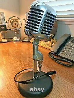 Vintage 1950'S Bogen (Shure 55) Dynamic Microphone- good shape & sound! Fatboy