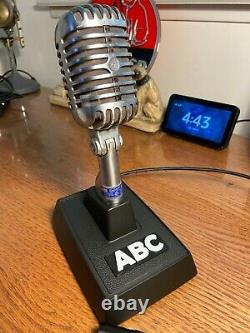 Vintage 1950'S Shure 55S Dynamic Microphone- working withDesk Stand & Cable (NET)