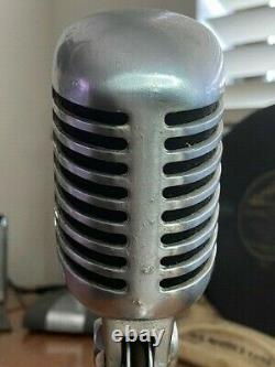 Vintage 1950's SHURE 55SW Dynamic Microphone withdesk stand / upgraded sound