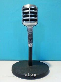 Vintage 1950S Electro Voice 611 Dynamic Microphone And Stand Working Shure Deco