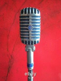 Vintage 1954 Shure 55 S dynamic cardioid microphone old Elvis w accessories # 2