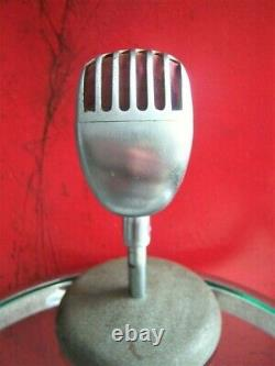 Vintage 1954 Stromberg Carlson MC-41 dynamic microphone Shure 55 S Elvis w stand