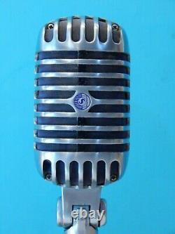 Vintage 1956 Shure 55S Dynamic Microphone And Accessories Working Elvis Antique
