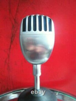 Vintage 1959 Stromberg Carlson MC-41 dynamic microphone w extra Shure 55S Elvis