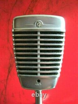 Vintage 1960's Shure 51 Dynamic microphone multi Z w cable Nat King Cole # 3