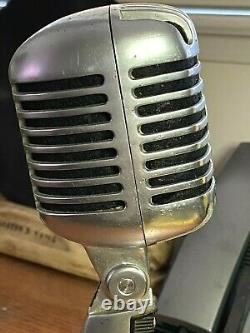 Vintage 1960's Shure 55SW Microphone works strong withoriginal dynamic element