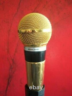 Vintage 1970's Shure PE56D Dynamic cardioid microphone gold w accessories # 2