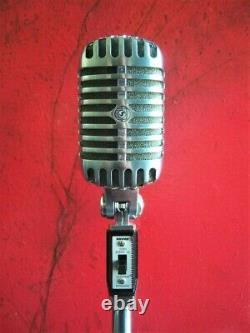 Vintage 2002 Shure 55SH dynamic cardioid microphone old Elvis w accessories # 1