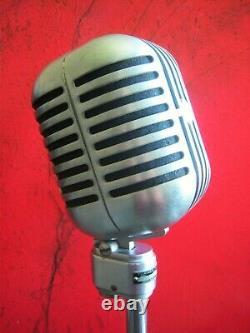 Vintage RARE 1940's Turner 101B ribbon / dynamic microphone w stand RCA Shure