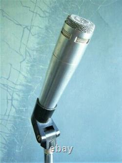 Vintage RARE 1960's Altec Lansing 683A dynamic cardioid microphone w clip Shure