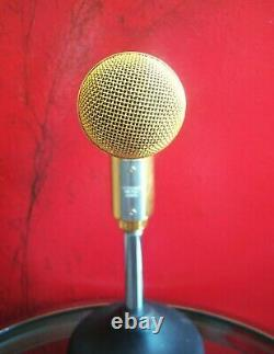Vintage RARE 1970's Shure PE566 Dynamic cardioid microphone gold w accessories