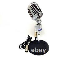 Vintage Shure 556S Unidyne Unidirectional Dynamic Microphone USA With Stand Clean