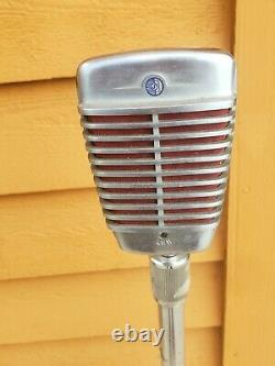Vintage Shure Brothers Model 51 dynamic microphone with Extendable Stand