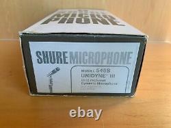 Vintage Shure Model 545S Unidyne III Dynamic Microphone NOS